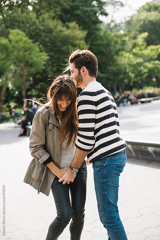 Affectionate young couple having fun in the city by GIC for Stocksy United