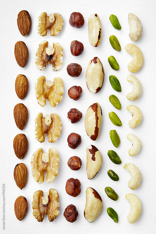 Assorted nuts by James Ross for Stocksy United