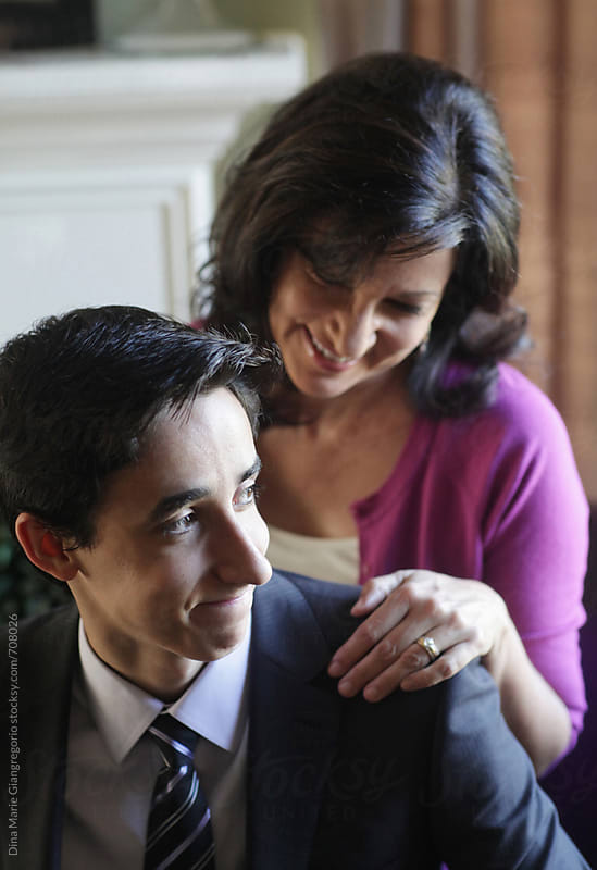 Proud Mother and Son by Dina Giangregorio for Stocksy United