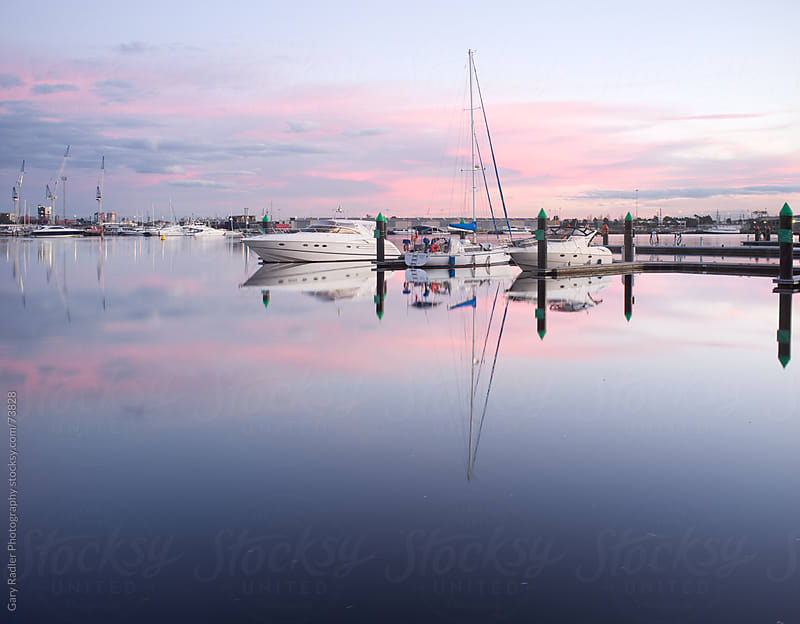 Boats at Harbour in Melbourne, Victoria, Australia by Gary Radler Photography for Stocksy United