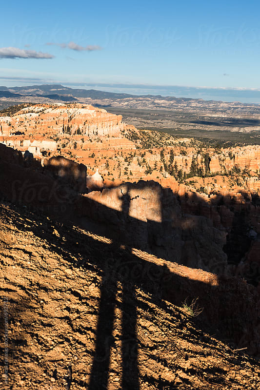 My shadow on the rocks in Bryce Canyon by michela ravasio for Stocksy United