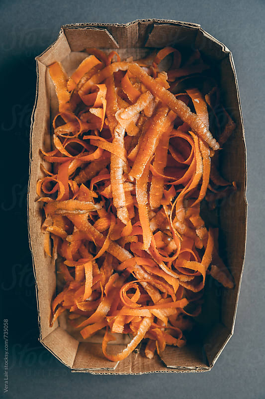 Carrots peelings by Vera Lair for Stocksy United