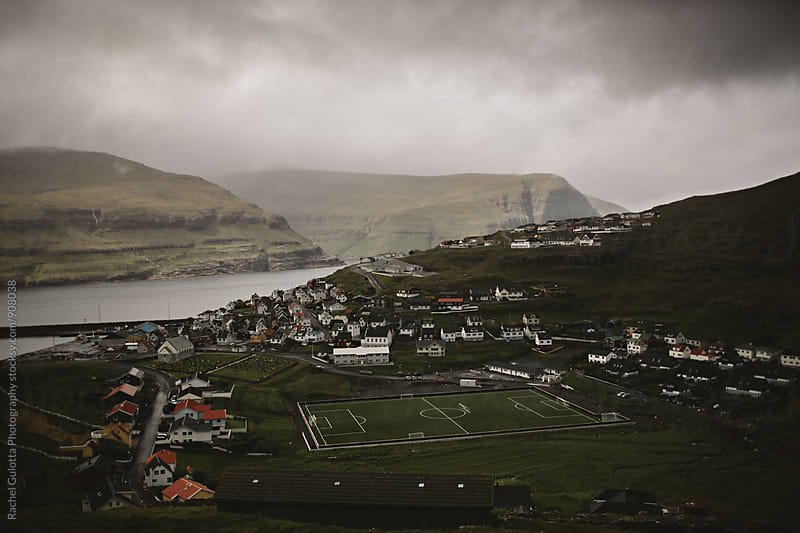 Soccer Field Next to the Atlantic Ocean in the Faroe Islands by Rachel Gulotta Photography for Stocksy United