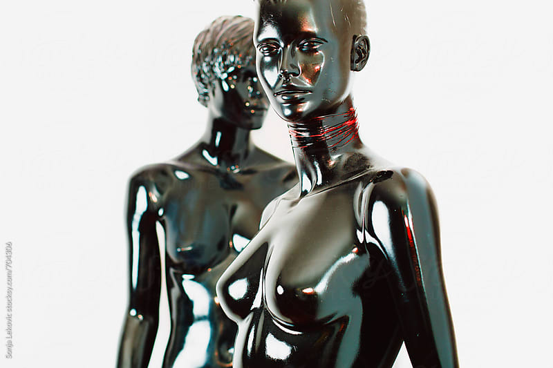glossy mannequin dolls  by Sonja Lekovic for Stocksy United