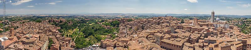 Panorama View of Siena by Leander Nardin for Stocksy United