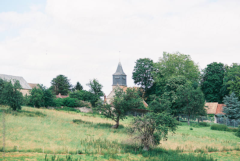 french village with church by Léa Jones for Stocksy United