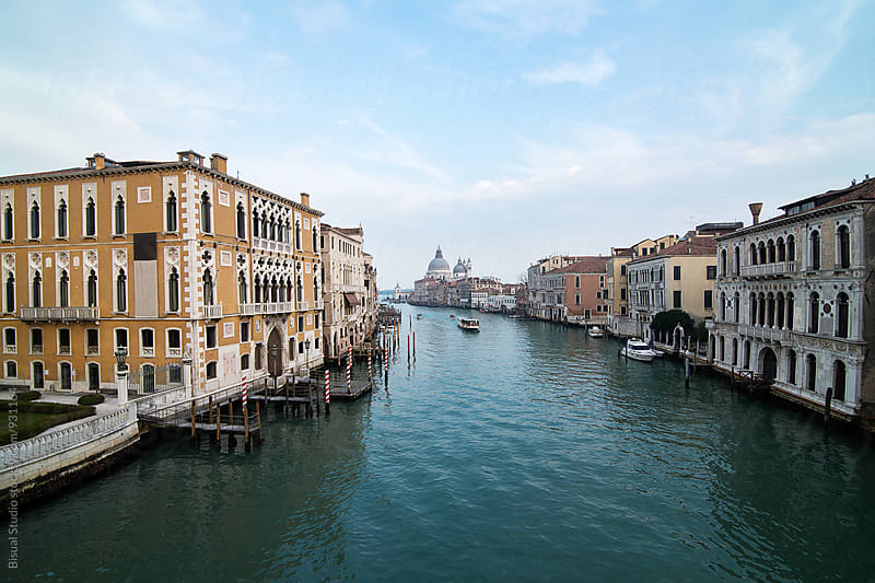 View of the Grand Canal from the Accademia Bridge in Venice by Bisual Studio for Stocksy United