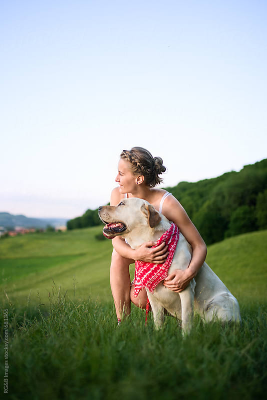 Dog and owner enjoying life together outdoor by RG&B Images for Stocksy United