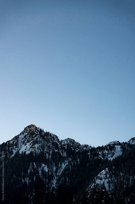 Mountains at Twilight by Terry Schmidbauer for Stocksy United