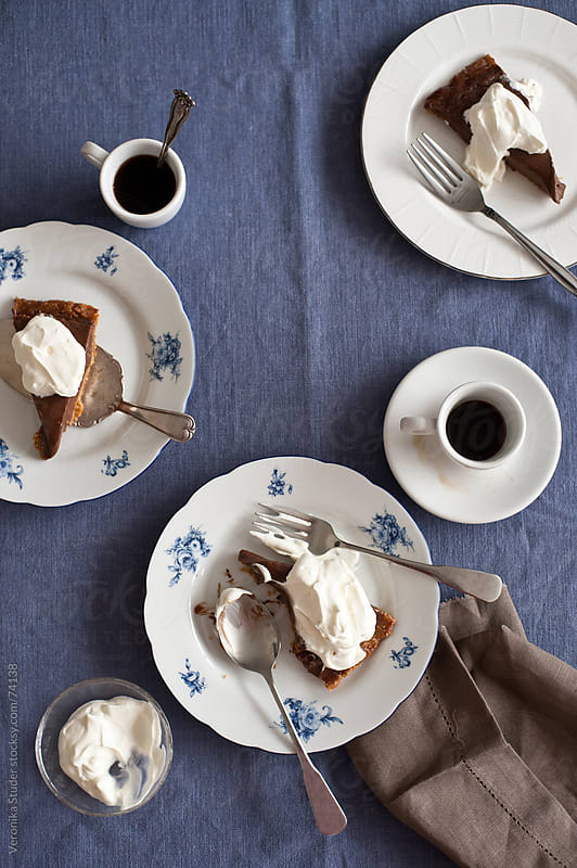 Chocolate cream pie by Veronika Studer for Stocksy United