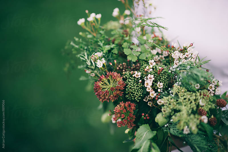 Sauvage wedding bouquet; Bridal bouquet by Adrian Cotiga for Stocksy United
