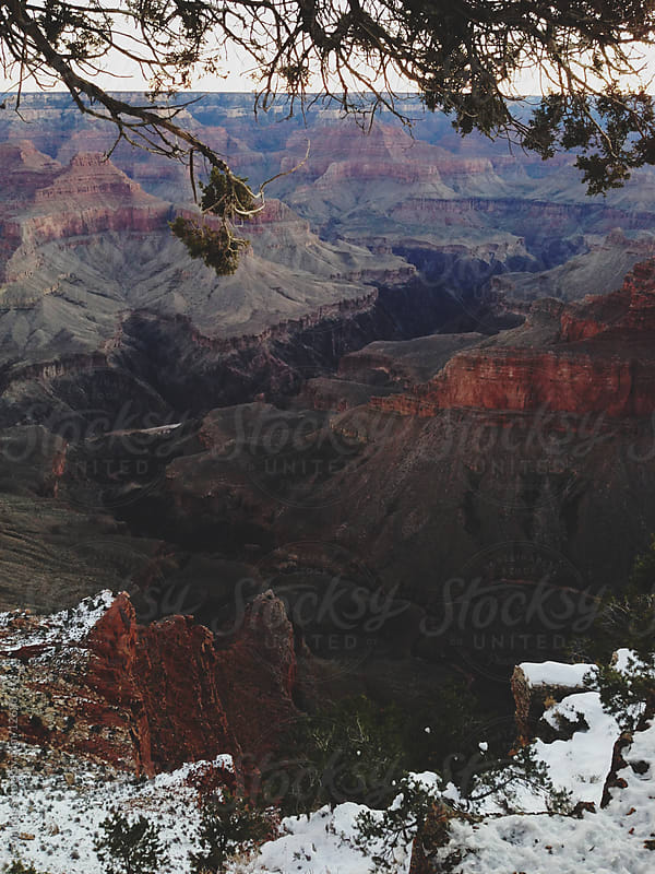 Dusting on Grand Canyon's South Rim by Kevin Russ for Stocksy United