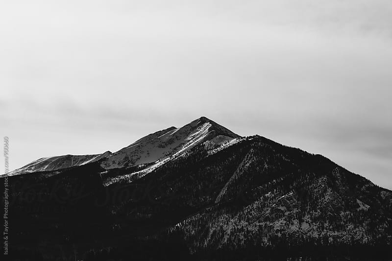 Winter Mountain Peak by Isaiah & Taylor Photography for Stocksy United