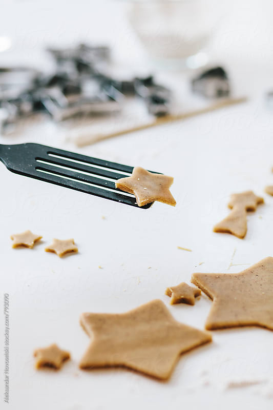 Preparing christmas cookies by Aleksandar Novoselski for Stocksy United