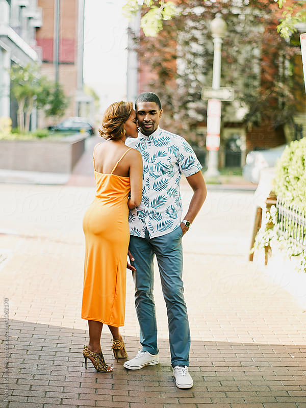 portrait of a loving man and woman by Marlon Richardson for Stocksy United