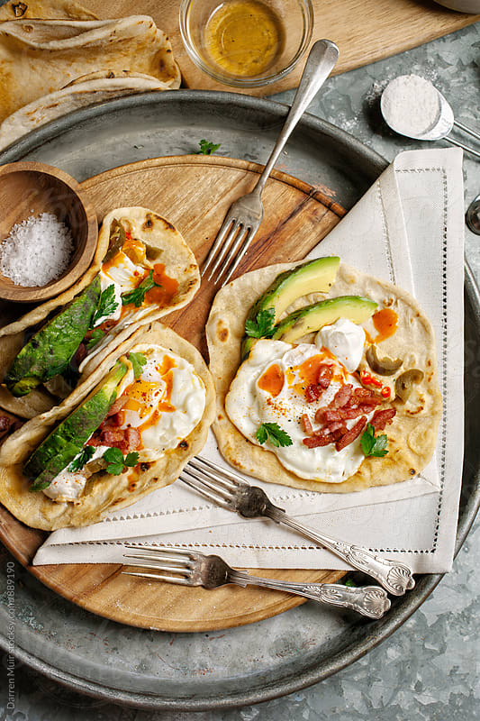 Breakfast tacos.  by Darren Muir for Stocksy United