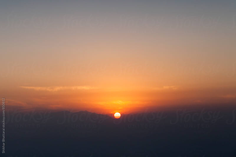 Majestic sunrise over the himalayas. by Shikhar Bhattarai for Stocksy United