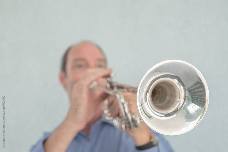 Musician Plays the Trumpet by suzanne clements for Stocksy United