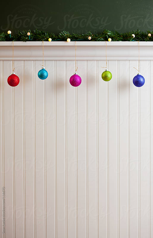 Holidays: Multi-Colored Ornaments with Copyspace by Sean Locke for Stocksy United