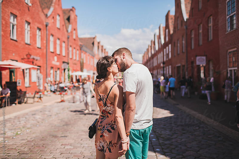 Couple on the date in a Dutch district in Potsdam by Irina Efremova for Stocksy United