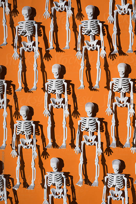 Human skeleton miniature/halloween. by Audrey Shtecinjo for Stocksy United