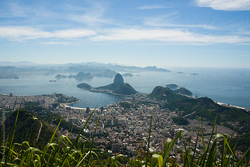 Cityscape of Rio from Above by Mark Pollard for Stocksy United