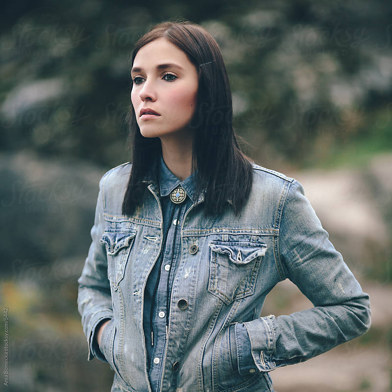 Girl in denim with hands in pockets by Ania Boniecka for Stocksy United