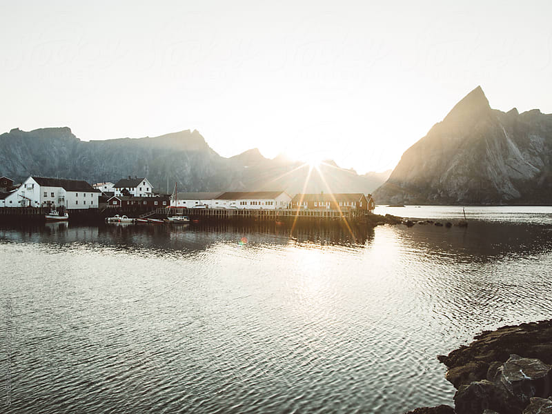 Last light in the Norwegian Fjords by Sam Elkins for Stocksy United