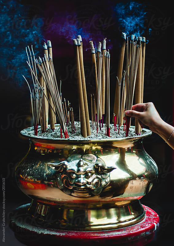 Prayer Sticks In Chinese Temple by Alexander Grabchilev for Stocksy United