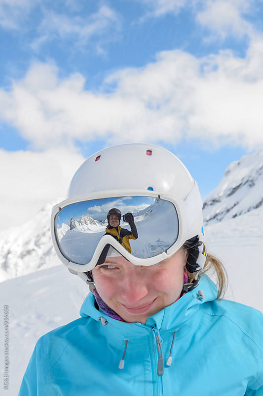 Smiling skier portrait  by RG&B Images for Stocksy United