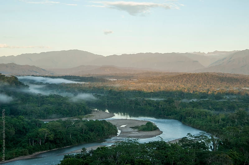 Dawn shot of river in the Amazon. by Mike Marlowe for Stocksy United