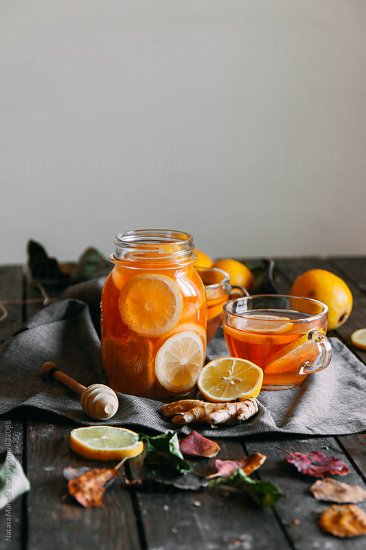Ginger Lemon Tea by Nataša Mandić for Stocksy United