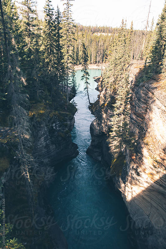 Athabasca Falls Jasper by Jake Elko for Stocksy United