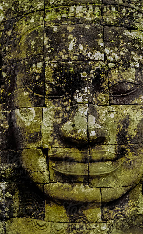 Face of deity. Angkor Wat. by Yury Goryanoy for Stocksy United