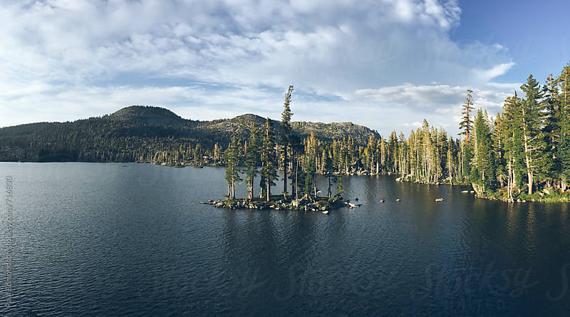 Pristine alpine lake at dusk, Desolation Wilderness, CA, USA by Paul Edmondson for Stocksy United