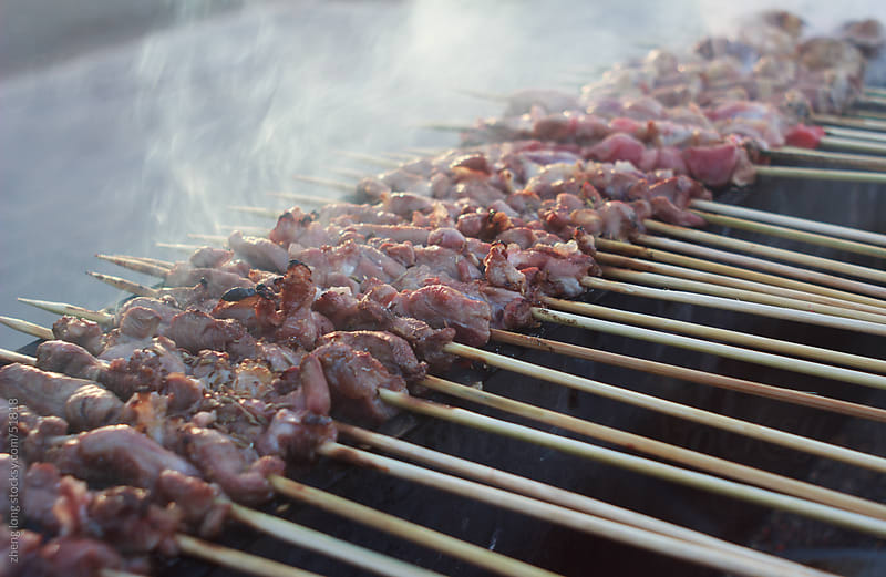 shish kebab by zheng long for Stocksy United
