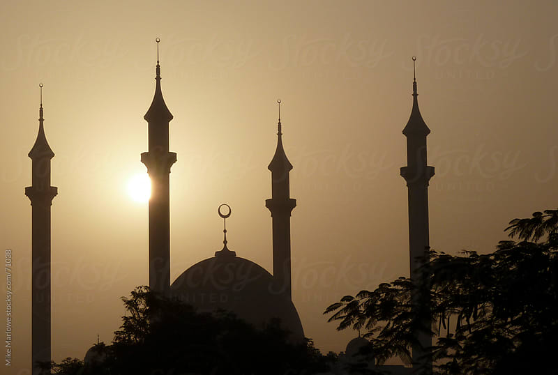 Silhouette of a mosque. by Mike Marlowe for Stocksy United