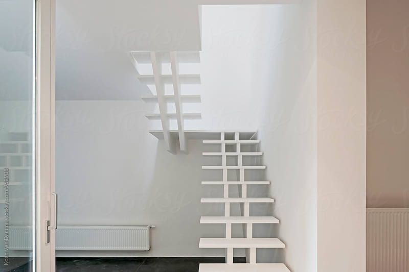 modern staircase by Koen Van Damme for Stocksy United