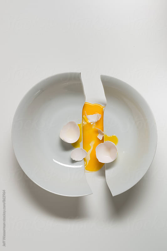 Concept: Broken Bowl and Broken Egg by Studio Six for Stocksy United
