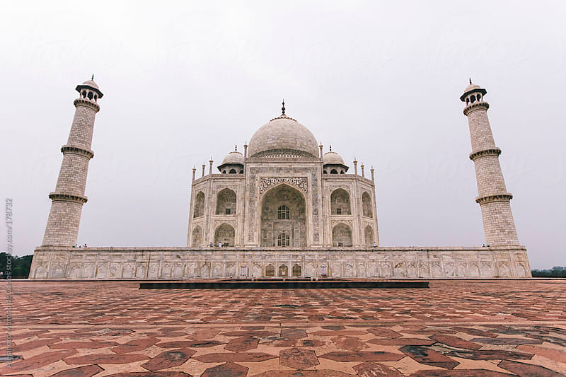 Taj Mahal mausoleum, Agra, India travel image by Alejandro Moreno de Carlos for Stocksy United