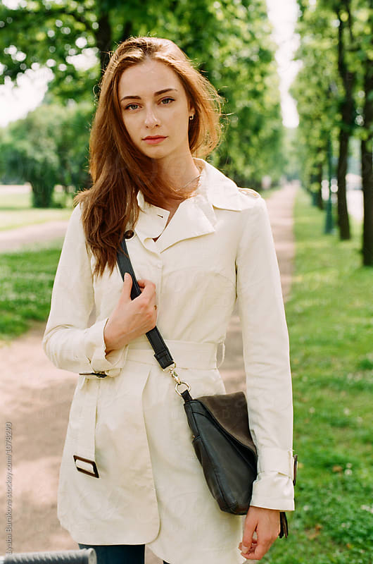 Young woman at the park by Liubov Burakova for Stocksy United