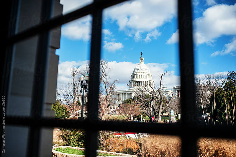 US Capitol Framed By Window by Cameron Whitman for Stocksy United