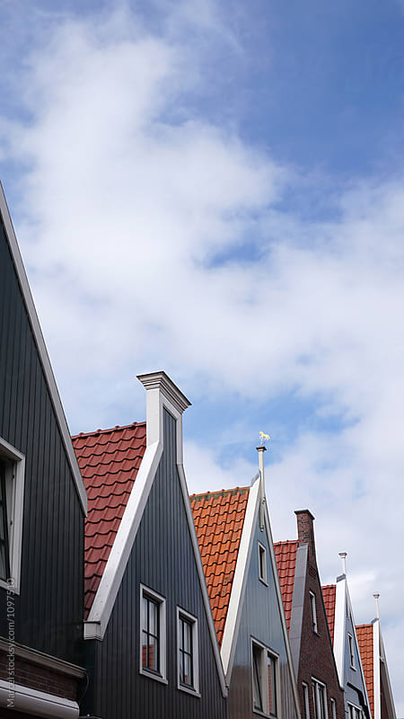 Dutch houses in a row by Marcel for Stocksy United