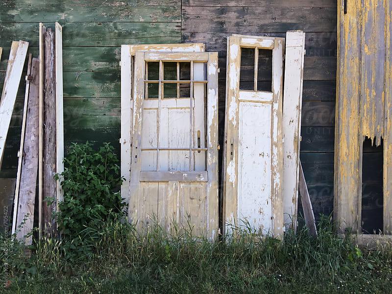 Old white door  by Marija Kovac for Stocksy United