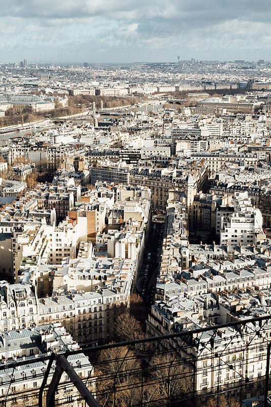 Paris from above by Sam Burton for Stocksy United