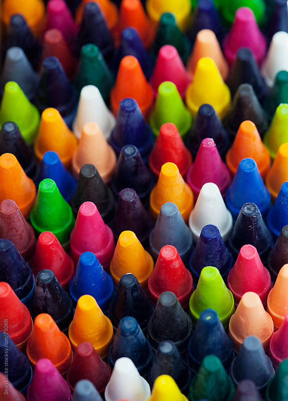 Crayons: Stack of Colorful Crayons by Sean Locke for Stocksy United