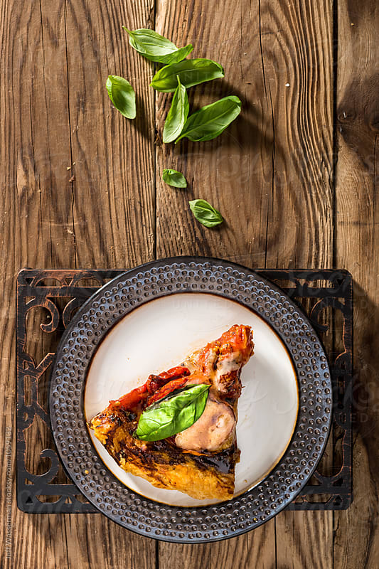 Galette Style Slow Roasted Tomato Pizza by Jeff Wasserman for Stocksy United
