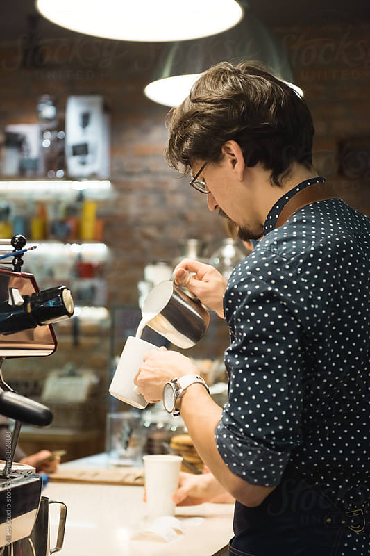 Barista working by Milles Studio for Stocksy United
