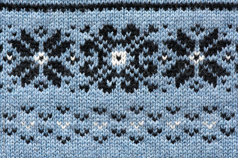 Winter themed wool pattern macro by Pixel Stories for Stocksy United