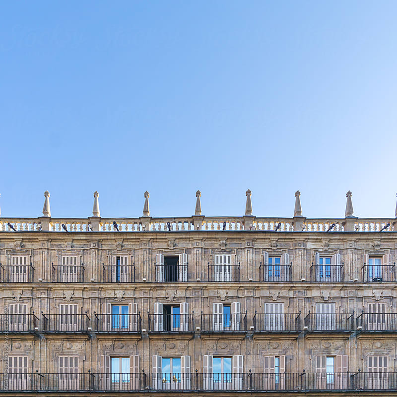 Facade of a historic building by ACALU Studio for Stocksy United